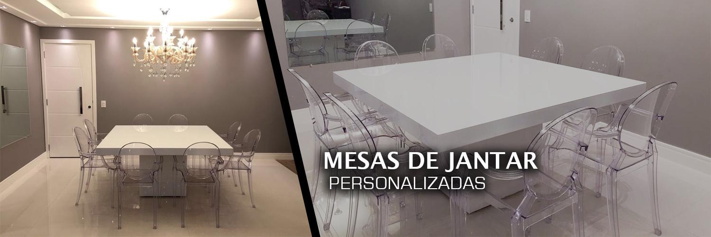 Mesas tenha a sua própria decoração